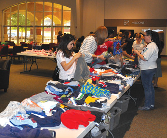 Church members, community members, and teen moms contributed items to the ...