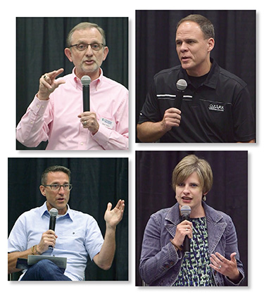 (Clockwise from top left) Mark Taylor, Matt Proctor, Jennifer Johnson, and Ben Cachiaras