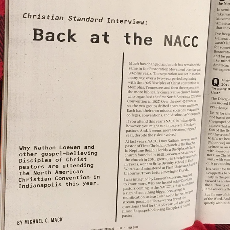 Christian Standard Interview: Back at the NACC