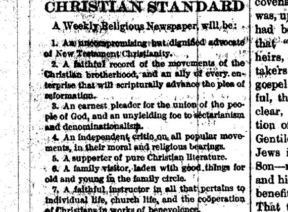 What The Christian Standard Will Be . . .