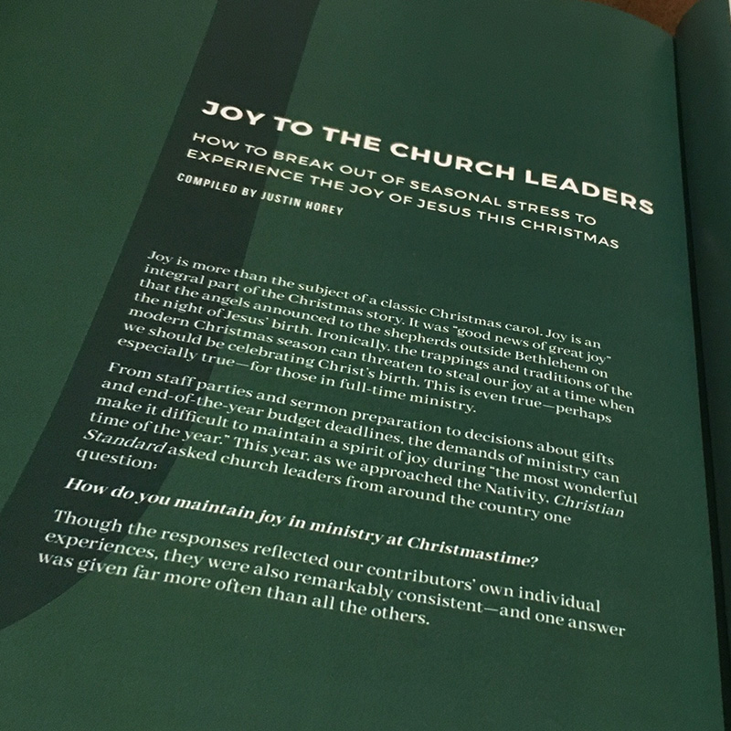 Joy to the Church Leaders