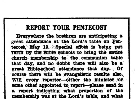 Whatever Happened to Pentecost Sunday?