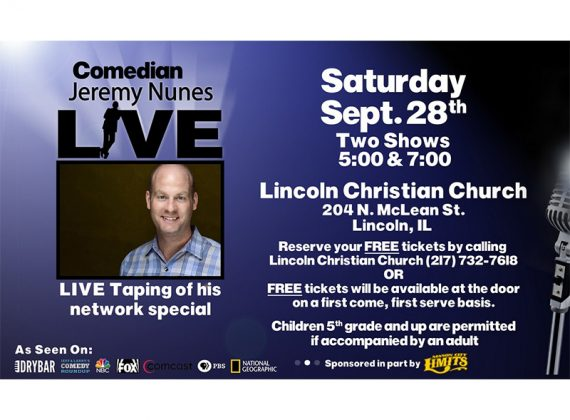 Nunes Filming Free Comedy Shows at Lincoln Christian Church