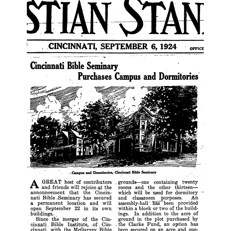 Cincinnati Christian University Started with a Merger