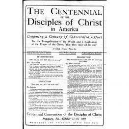 """The Sovereignty of Jesus"" (Keynote Sermon at the Centennial Convention)"
