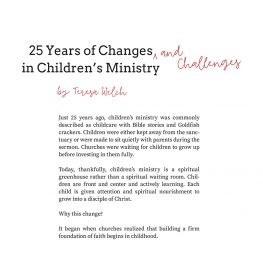 25 Years of Changes and Challenges in Children's Ministry