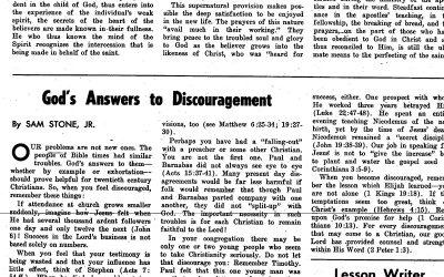 Sam E. Stone: Words of Encouragement from a Recent Graduate (circa 1958)