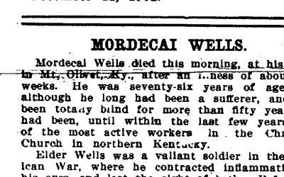 1901 Obituary: 'Good Old Bro. Wells'