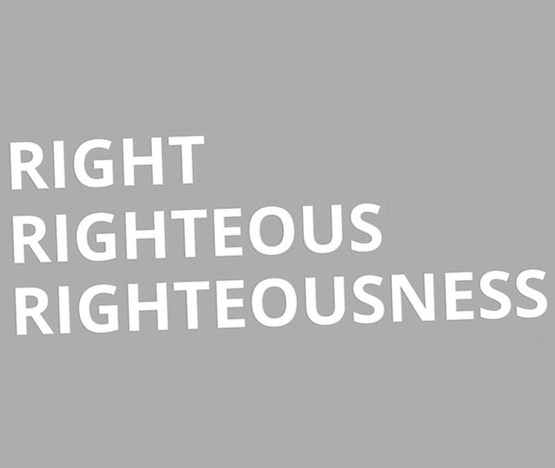 Aug. 8 | Which Righteousness?