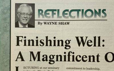 (Updated) Wayne Shaw and 'Finishing Well'