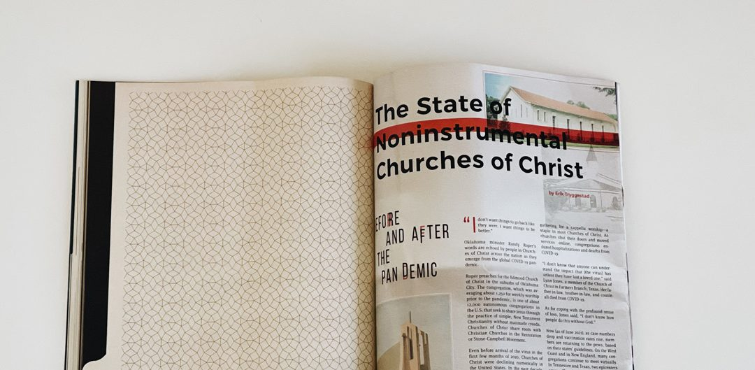 The State of Noninstrumental Churches of Christ . . . Before and After the Pandemic